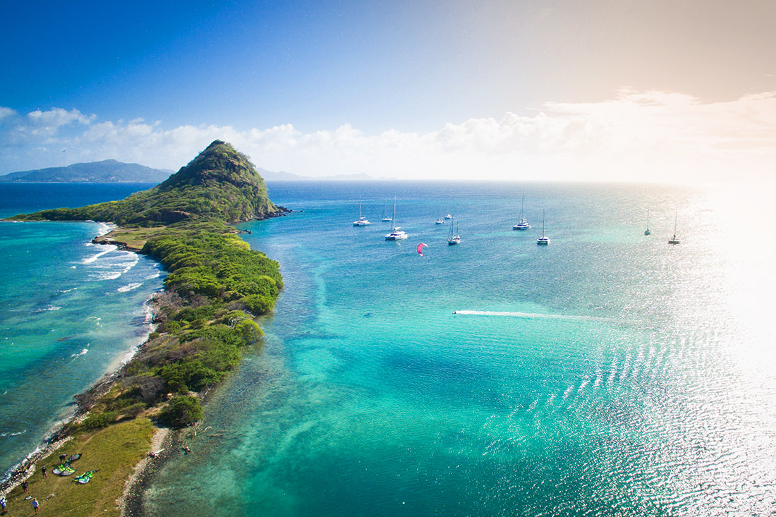 Kitespot auf den Grenadinen