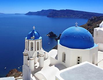 Ein Bild von Santorini in Griechenland
