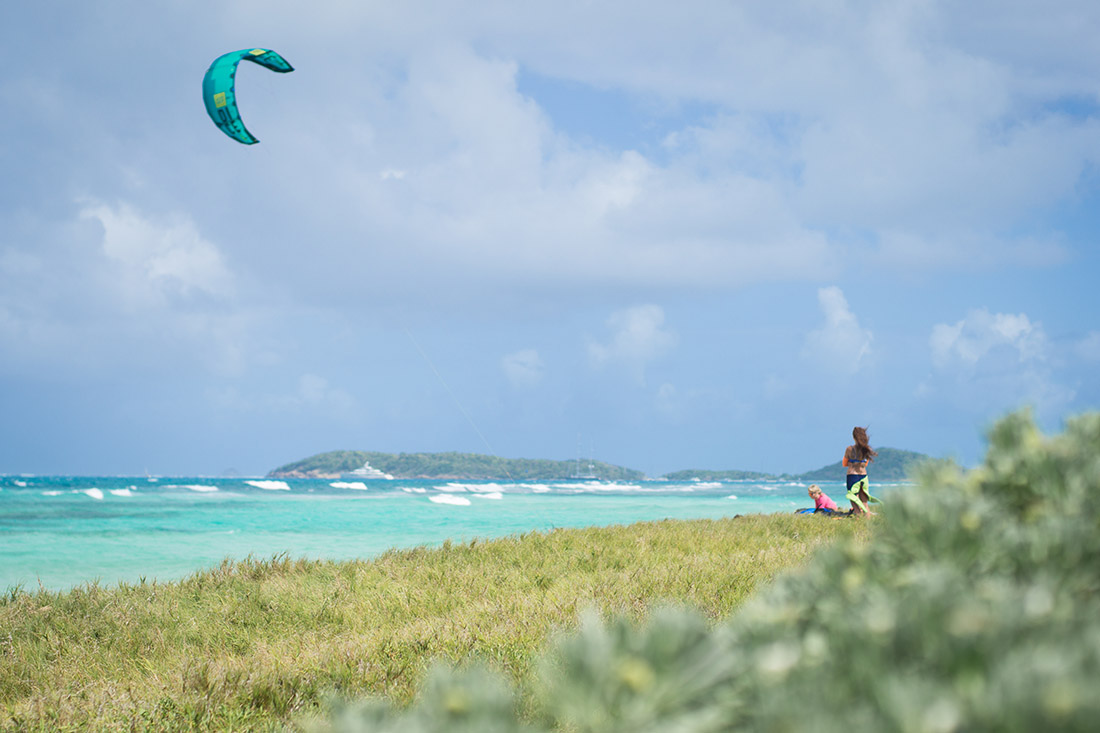 Kitestrand in der Karibik