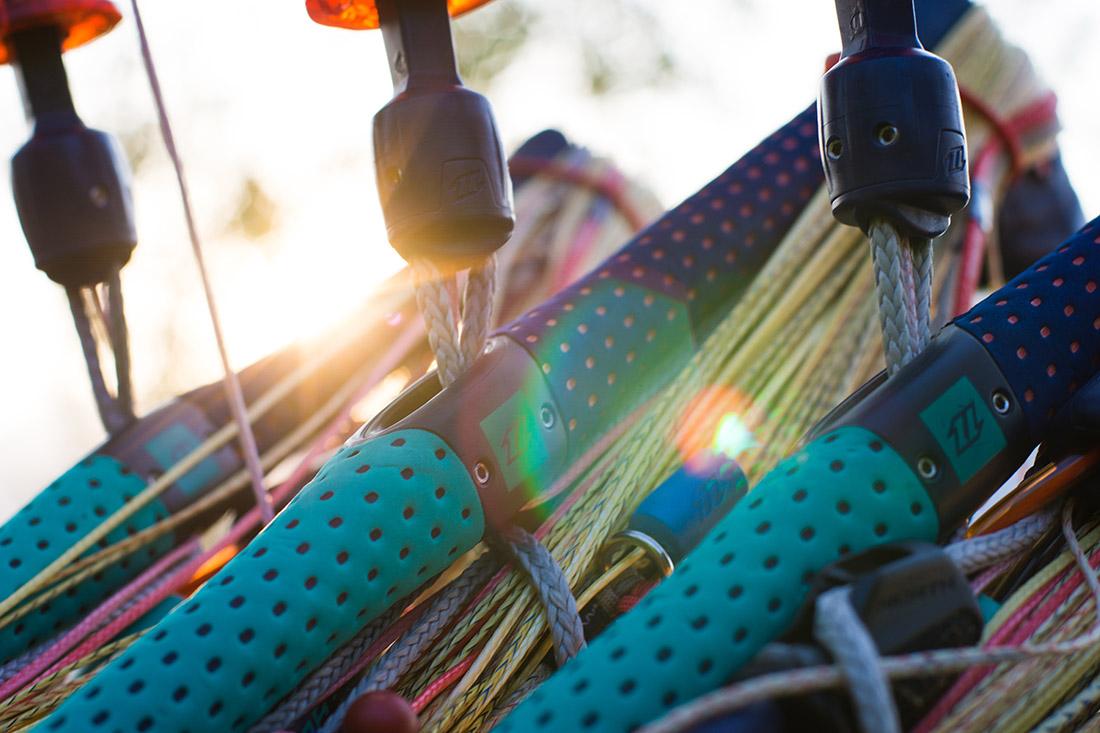 Kitebars in der Sonne
