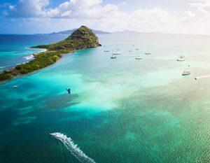 Kiter kitet in der Karibik
