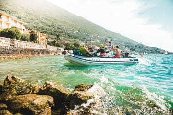 Der Kiteshuttle startet am Gardasee