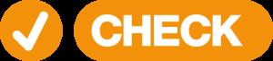 Ein Orangenes Check Symbol