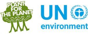 Logo von Trillion Tree Campaign und Un Environment